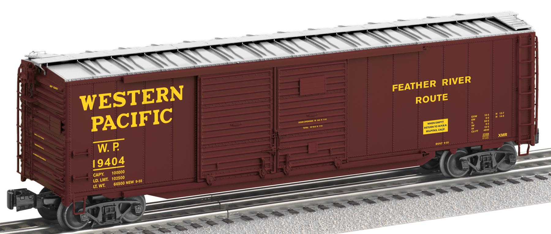 6-27459 WESTERN PACIFIC A.A.R. STANDARD BOXCAR #19404