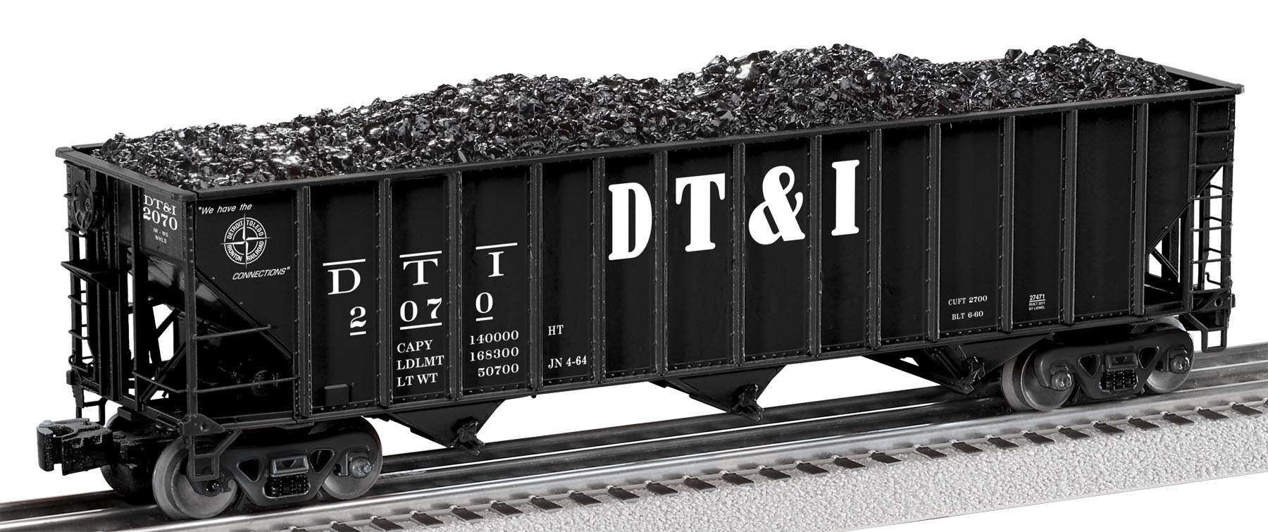 6-27471 DT&I 3-BAY DIE-CAST COAL HOPPER #2070