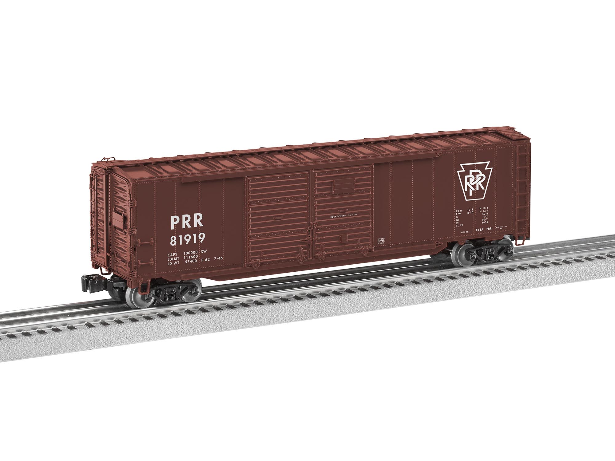 6-27857 PENNSYLVANIA SCALE 50' BOXCAR W/END DOORS #81919
