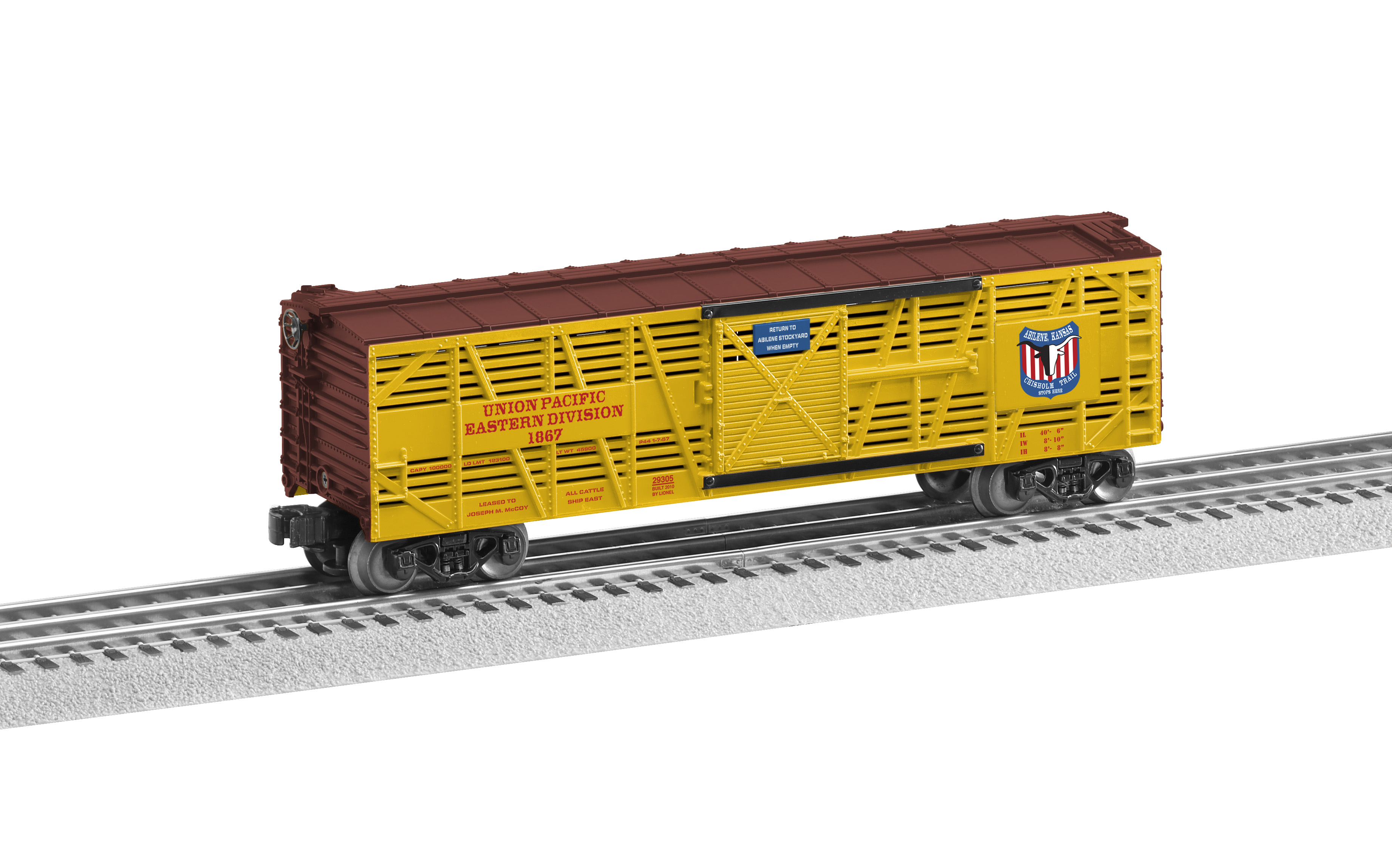 "6-29305 UNION PACIFIC ""CHISHOLM TRAIL"" STOCK CAR WITH SOUNDS"