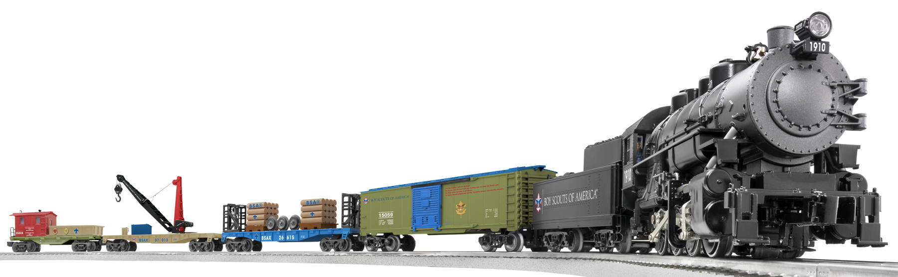 6-30161 Boyscouts of America 0-8-0 Freight Set