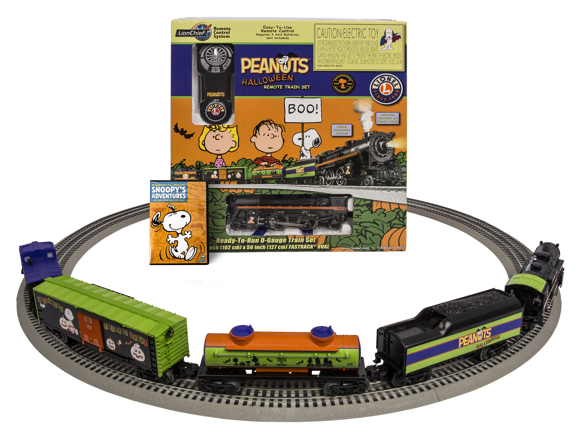 6-30214 PEANUTS® HALLOWEEN 2-4-2 STEAM LIONCHIEF SET