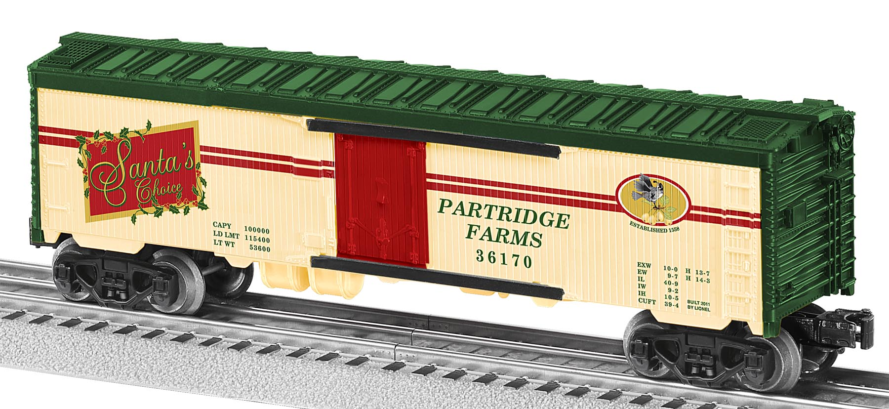 6-36170 PARTRIDGE IN A PEAR TREE WOOD-SIDED REEFER #36170