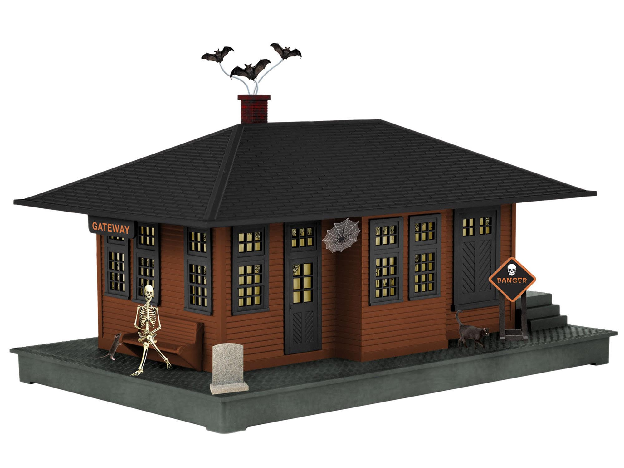 6-37998 HALLOWEEN HAUNTED PASSENGER STATION
