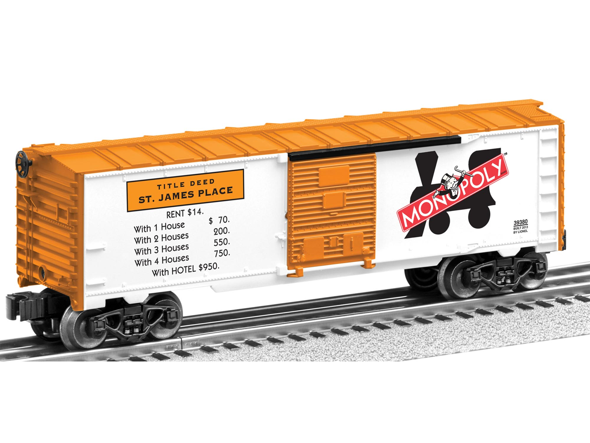 6-39379 MONOPOLY BOXCAR 2-PACK (MEDITERRANEAN AVE & ST JAMES PL)