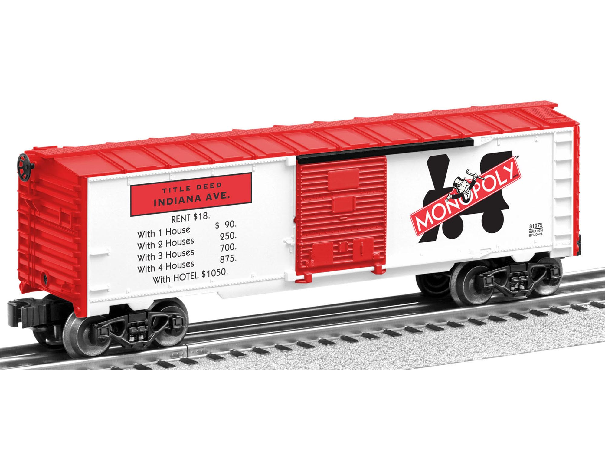 6-81073 MONOPOLY BOXCAR 2-PACK (VENTNOR AVE & INDIANA AVE)