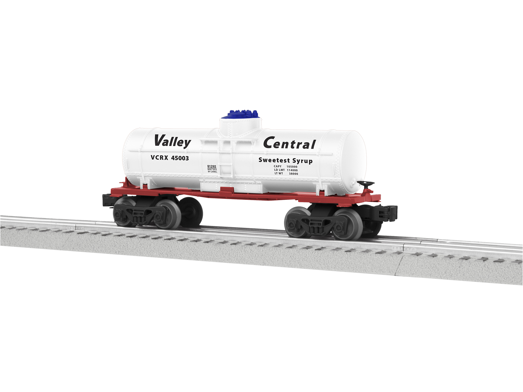 6-81292 VALLEY CENTRAL SINGLE-DOME TANK CAR