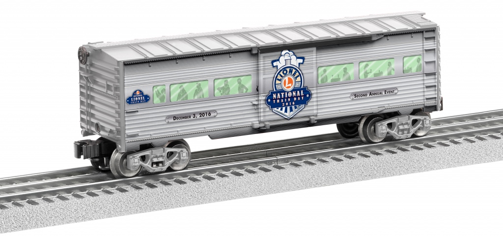 6-83498 NATIONAL LIONEL TRAIN DAY BOXCAR 2016