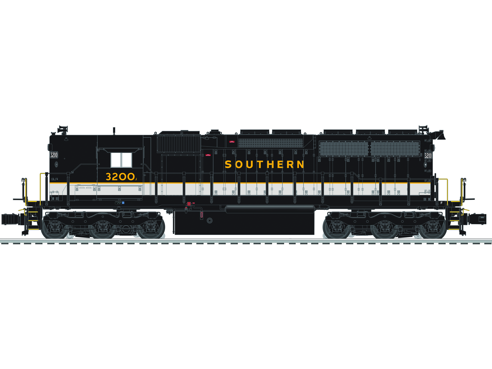 6-84265 SOUTHERN SD40 #3200