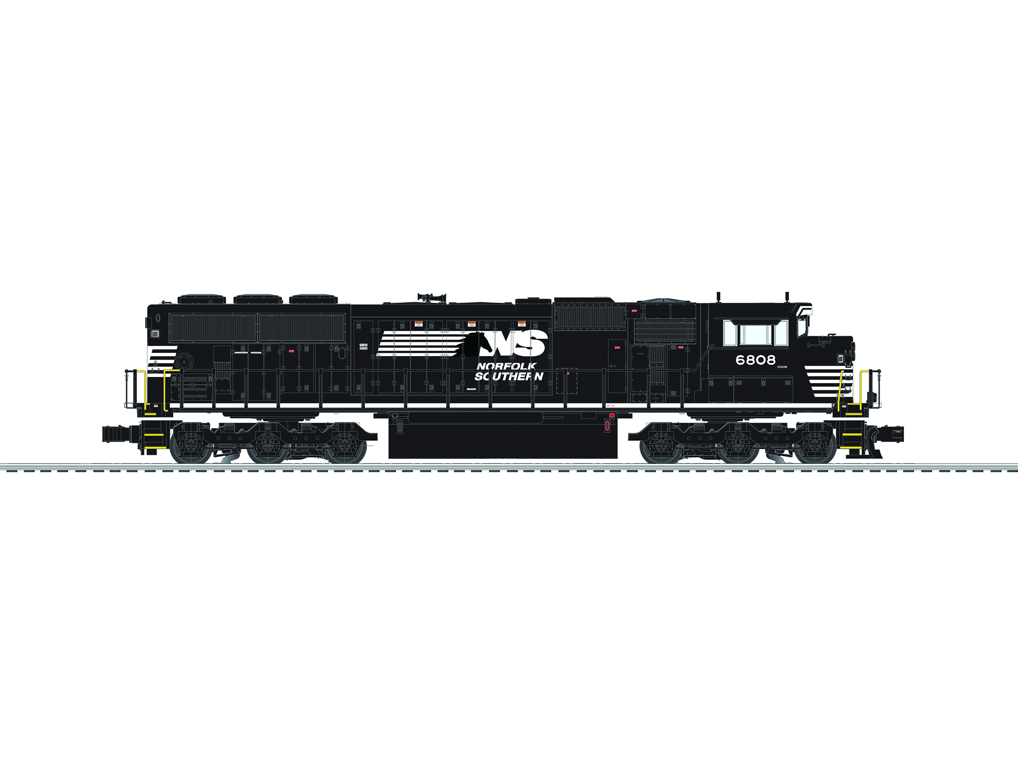 6-84409 NORFOLK SOUTHERN SD60M #6808