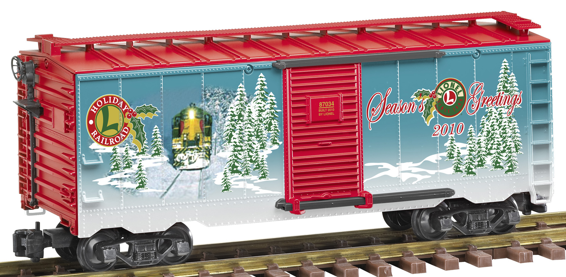 8-87034 2010 Holiday Christmas Boxcar Lionel Large Scale