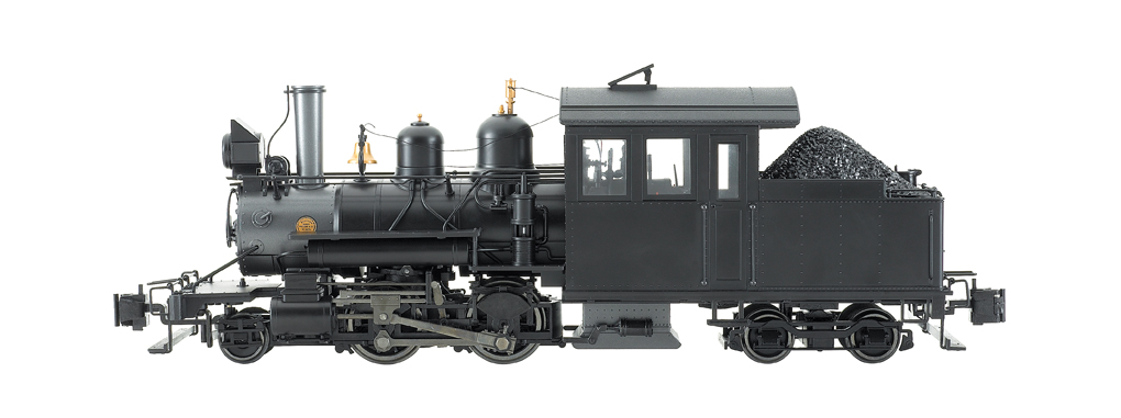 Painted, Unlettered - Outside Frame (Black) Forney 2-4-4 G Scale