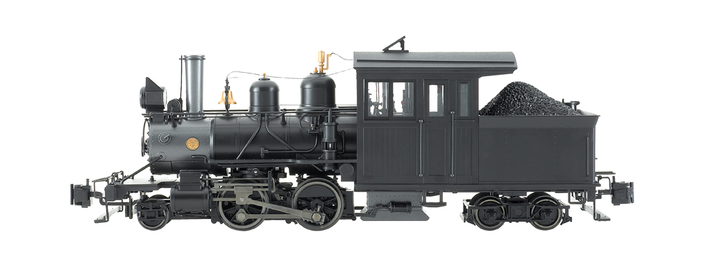 Painted, Unlettered - Inside Frame (Black) Forney 2-4-4 G Scale