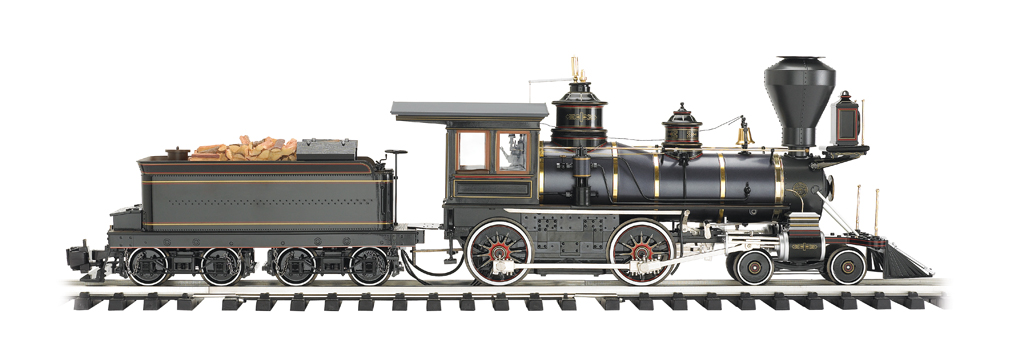 Painted, Unlettered - Olive Green & Russia Iron - 4-4-0 American
