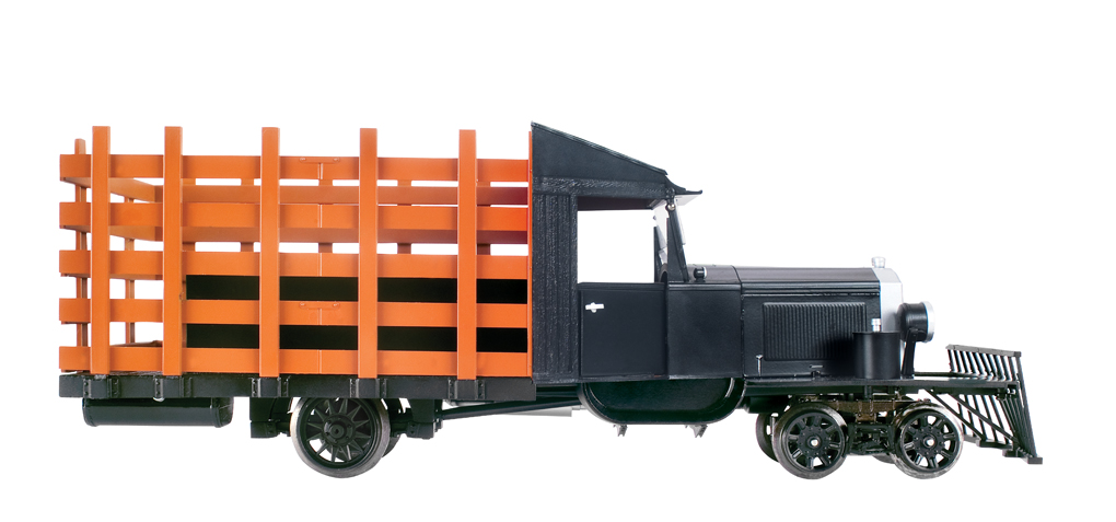 Painted, Unlettered - Black - Rail Truck