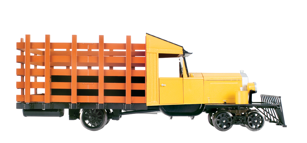Painted, Unlettered - Yellow & Black - Rail Truck