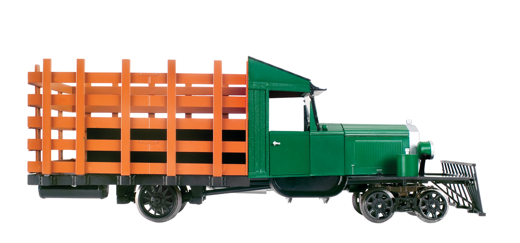 Painted, Unlettered - Hunter Green & Black - Rail Truck