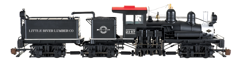 Little River Lumber Co. #2147 - Three-Truck Shay - DCC Sound