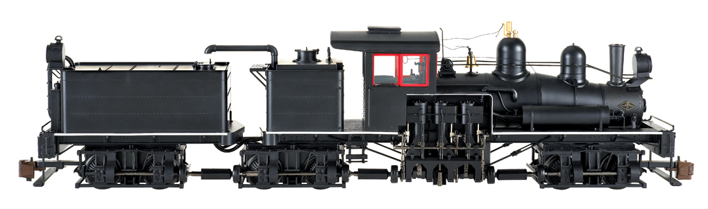 Black w/Red & White Trim - Three-Truck Shay - DCC Sound