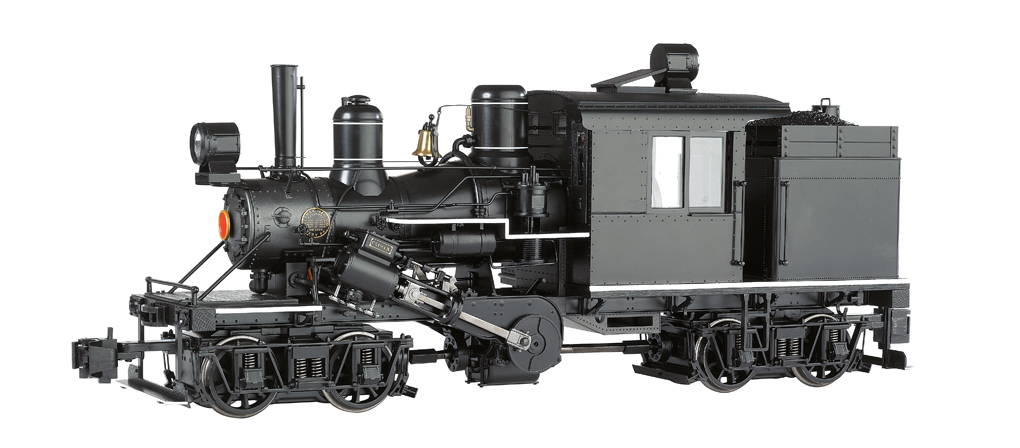 Black w/White Running Board Stripes - Two-Truck Climax (G Scale)