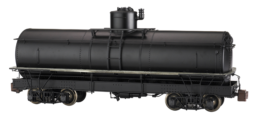Painted, Unlettered - Black - Framed Tank Car (Large Scale)