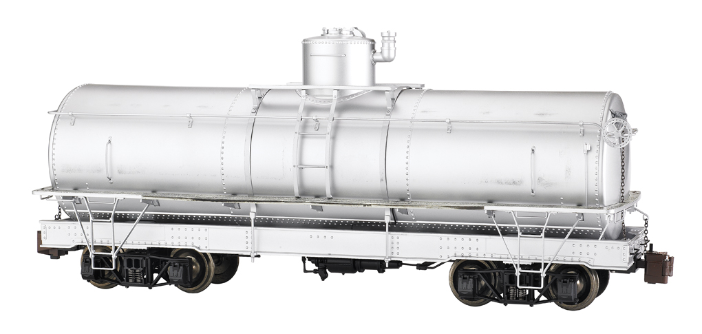 Painted, Unlettered - Silver - Framed Tank Car (Large Scale)