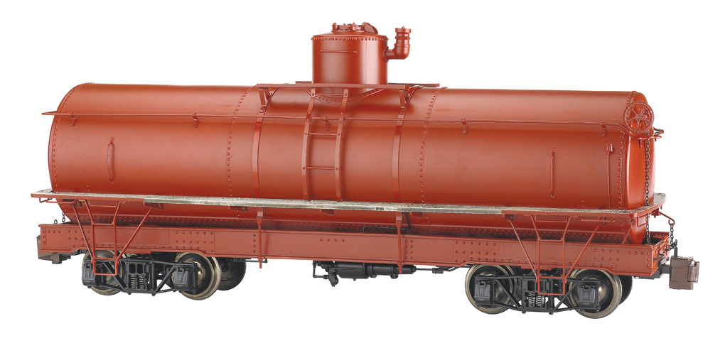 Painted, Unlettered - Oxide Red - Framed Tank Car (Large Scale)