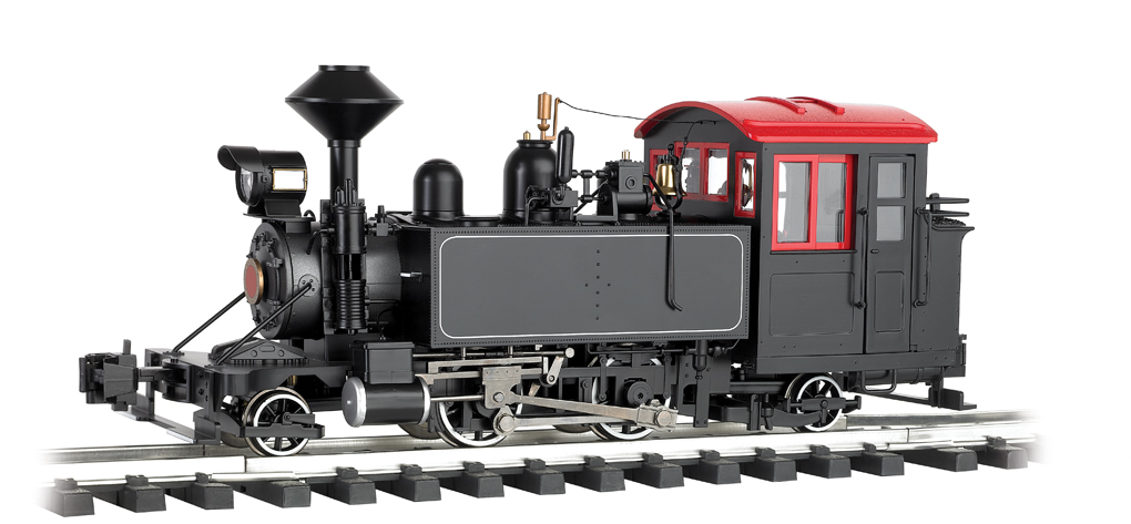 Unlettered - Black w/Red Windows -2-4-2 Locomotives (G Scale)