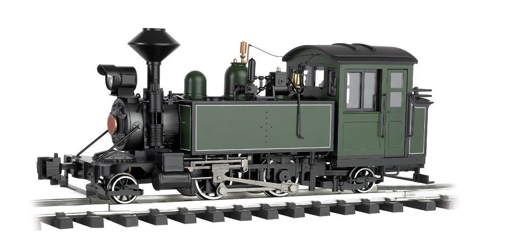 Unlettered - Green/Black w/ White Pinstripes -2-4-2 Locomotive G