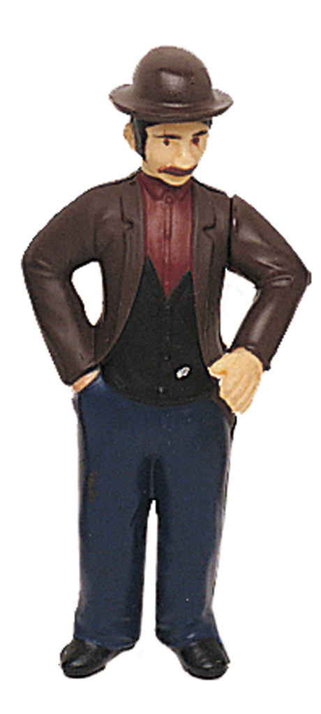 Poseable Man with Bowler Hat