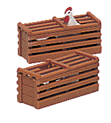Two Chicken Crates (Large Scale)