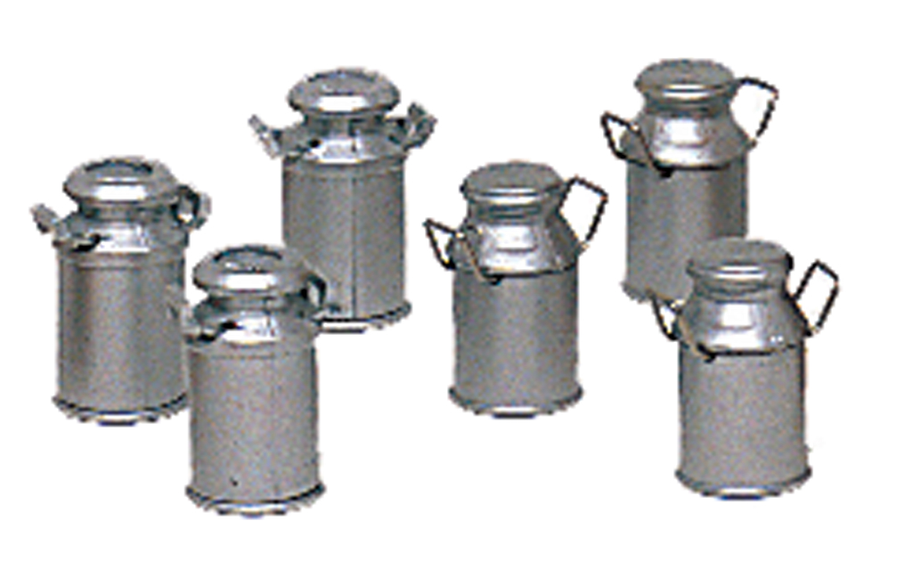 Six Milk Cans (two styles) (Large Scale)