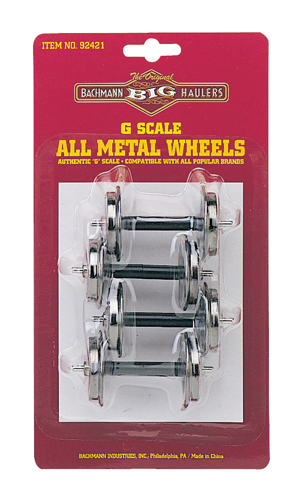 Large Metal Wheel Set (4 per card) (Large Scale)