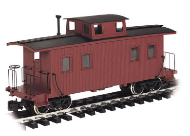 Painted Unlettered - Eight-Wheel Center Cupola Caboose (Large)