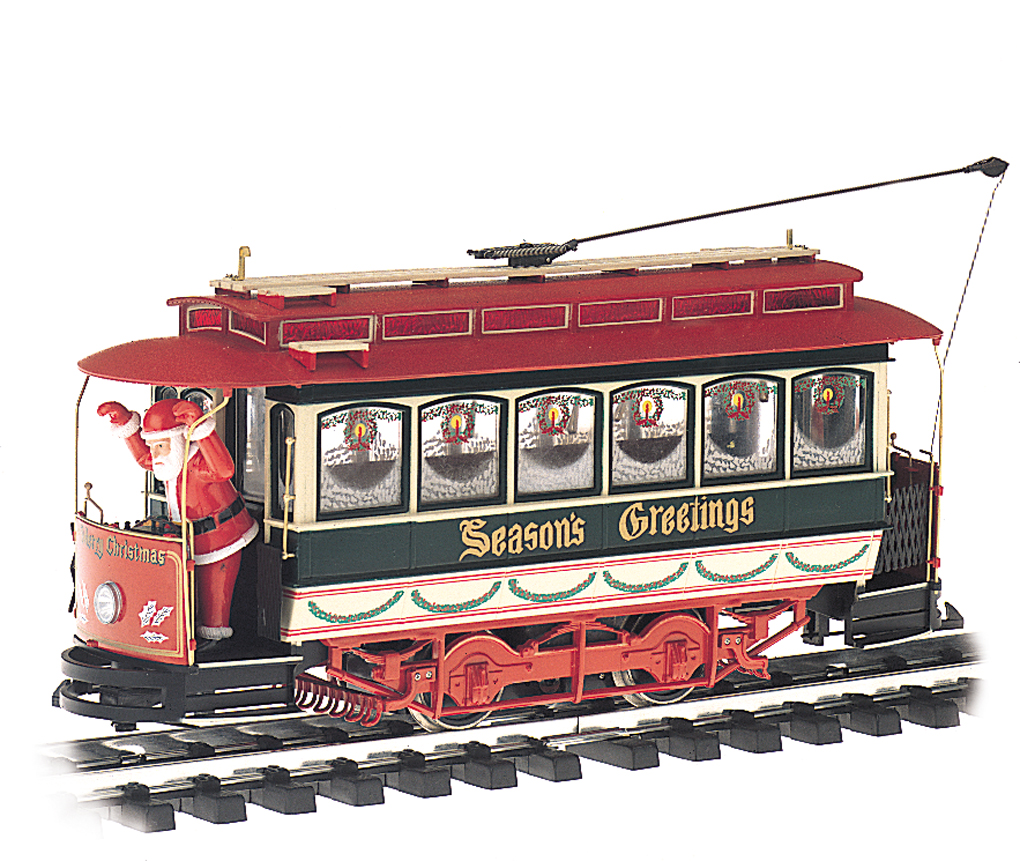 Season's Greetings - Christmas Streetcar with Santa