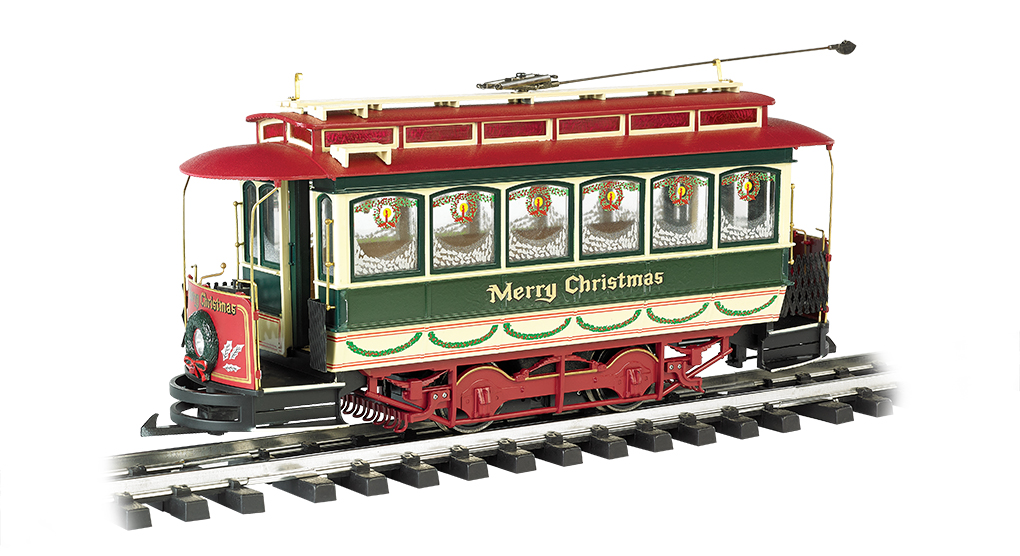 Christmas . - Closed Streetcar (G Scale)