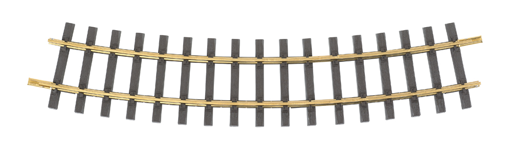 8' Diameter Curve 16/Box - Brass Track (Large Scale)