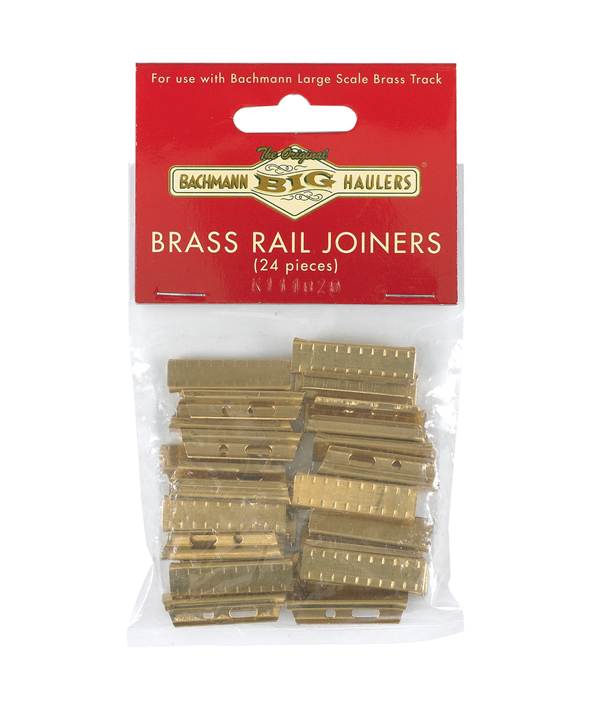 Brass Rail Joiners 24/Bag - Brass Track (Large Scale)