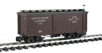 Little River Lumber Co. - 20' Box Car (Large Scale)