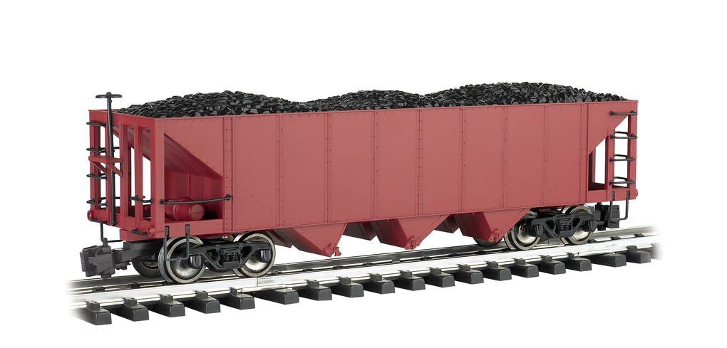 Painted Unlettered Oxide Red - Three-Bay Hopper