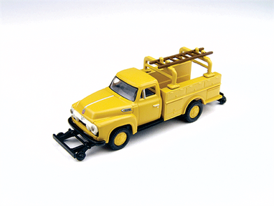 1954 Ford F-350 Utility Truck-Chrome Yellow