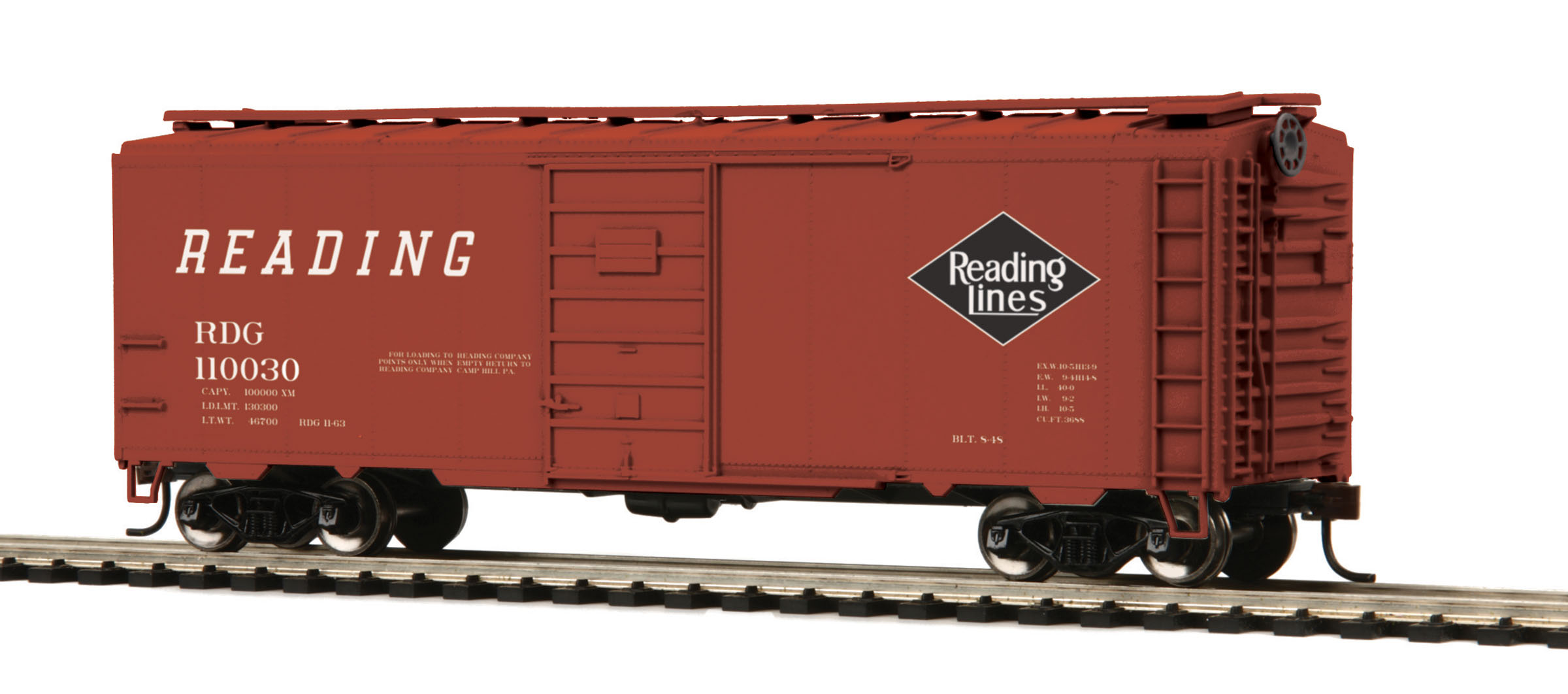 HO Scale MTH HO 40' PS-1 Box Car #110030 - Click Image to Close