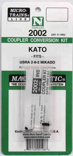 Coupler Conversion Kit for Kato USRA 2-8-2 Mikado (N)