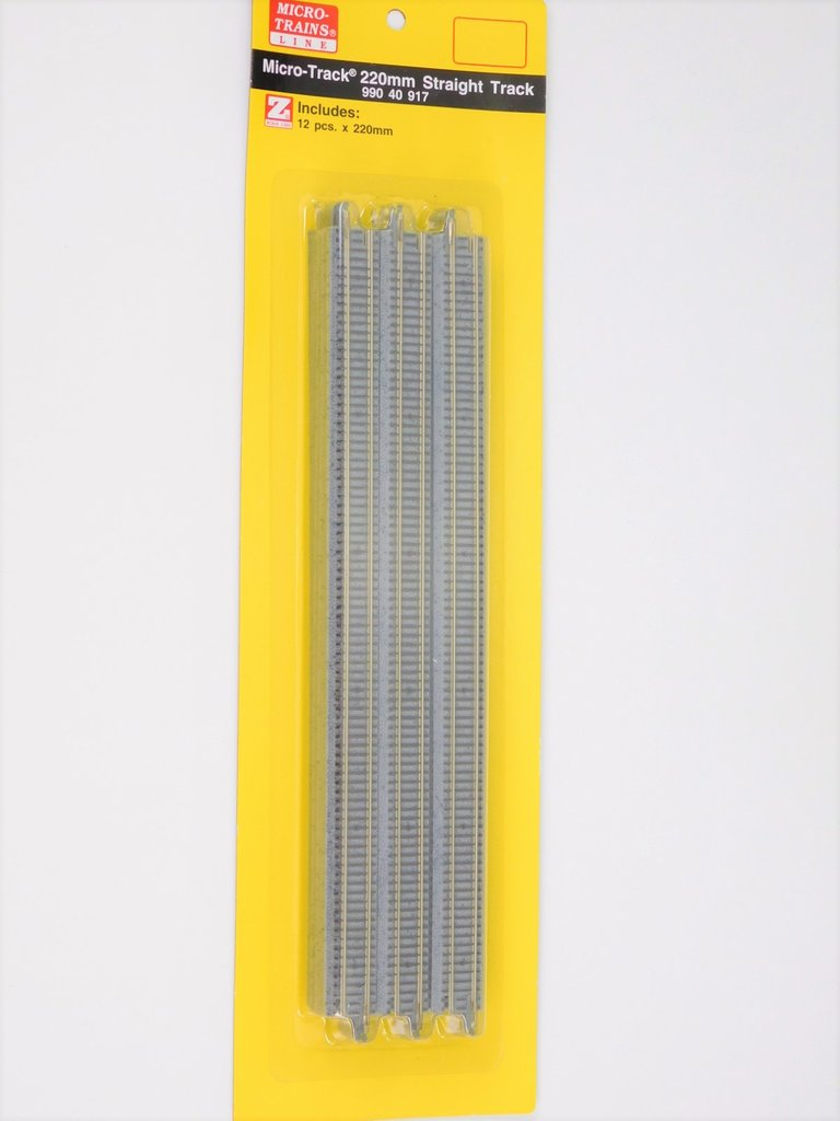 "MICRO-TRAINS LINE 99040917 9"" STRAIGHT TRACK 12 PACK (Z)"