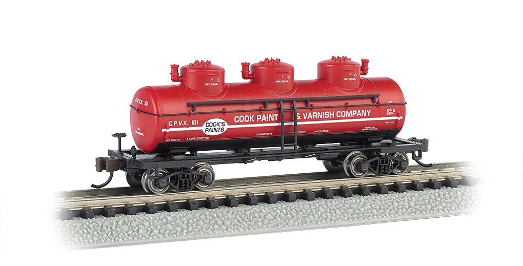 Cook Paint & Varnish CO. - 3-Dome Tank Car (N Scale)