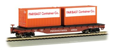 52' Flat Car - PRR with Container Load