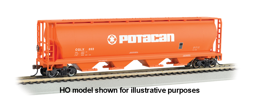 Potacan - 4 Bay Cylindrical Grain Hopper (N Scale)