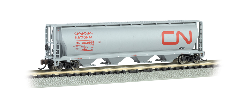 Canadian National - 4 Bay Cylindrical Grain Hopper (N Scale)