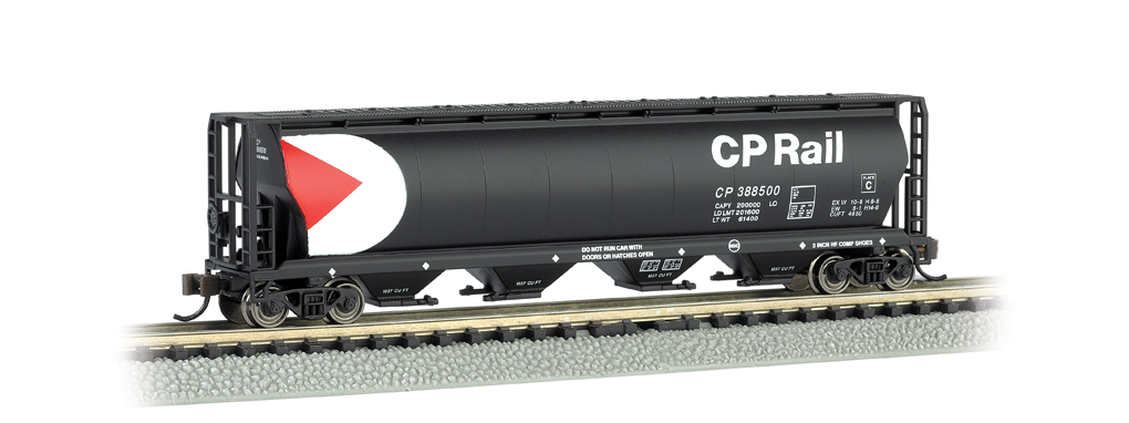 CP Rail - 4 Bay Cylindrical Grain Hopper (N Scale)