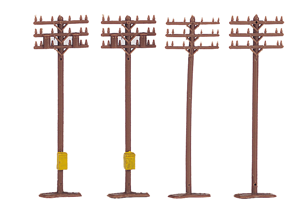 Telephone Poles (12 pieces) (N Scale)